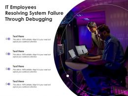 IT Employees Resolving System Failure Through Debugging