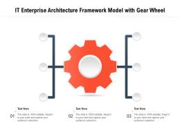 IT Enterprise Architecture Framework Model With Gear Wheel