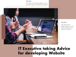 IT Executive Taking Advice For Developing Website