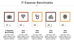 It Expense Benchmark Ppt Powerpoint Presentation File Inspiration Cpb