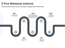 It Firm Milestones Achieved Organizational Partner Ppt Powerpoint Presentation Pictures