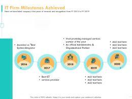 IT Firm Milestones Achieved Partner Ppt Powerpoint Presentation Guide