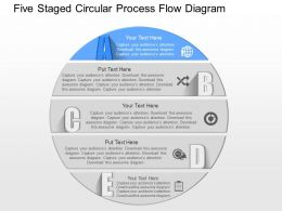 it Five Staged Circular Process Flow Diagram Powerpoint Template