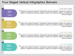 it Four Staged Vertical Infographics Banners Flat Powerpoint Design