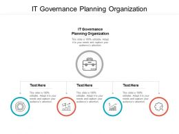 IT Governance Planning Organization Ppt Powerpoint Presentation Layouts Backgrounds Cpb
