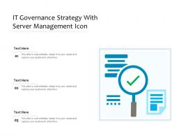 It Governance Strategy With Server Management Icon