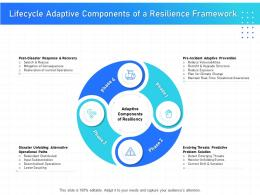 IT Infrastructure Management Lifecycle Adaptive Components Of A Resilience Framework Ppt Ideas