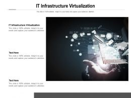IT Infrastructure Virtualization Ppt Powerpoint Presentation Icon Visuals Cpb