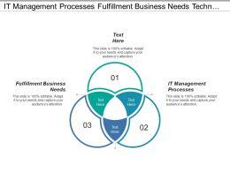 It Management Processes Fulfillment Business Needs Technology Standards