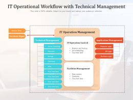 It Operational Workflow With Technical Management