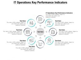 IT Operations Key Performance Indicators Ppt Powerpoint Presentation Layouts Demonstration Cpb