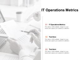 IT Operations Metrics Ppt Powerpoint Presentation Slides Icons Cpb