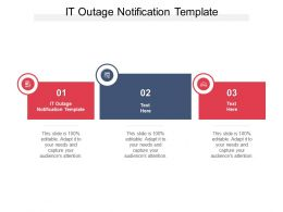 IT Outage Notification Template Ppt Powerpoint Presentation Infographic Template Background Images Cpb