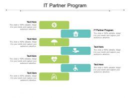IT Partner Program Ppt Powerpoint Presentation Inspiration Background Designs Cpb