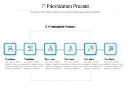 IT PriorITization Process Ppt Powerpoint Presentation Styles Templates Cpb