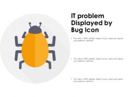 IT Problem Displayed By Bug Icon