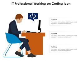 IT Professional Working On Coding Icon