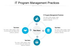 IT Program Management Practices Ppt Powerpoint Presentation Outline Design Cpb