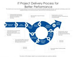 IT Project Delivery Process For Better Performance