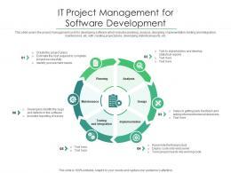IT Project Management For Software Development