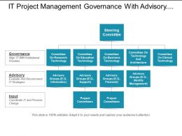 It Project Management Governance With Advisory Group And Project Committees