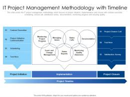 IT Project Management Methodology With Timeline