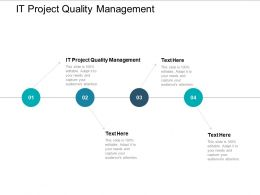 It Project Quality Management Ppt Powerpoint Presentation File Outline Cpb