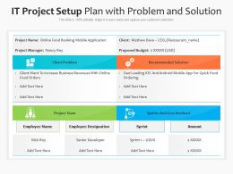 IT Project Setup Plan With Problem And Solution