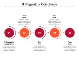 IT Regulatory Compliance Ppt Powerpoint Presentation Visual Aids Icon Cpb