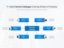 IT Related Service Catalogue Covering Division Of Company
