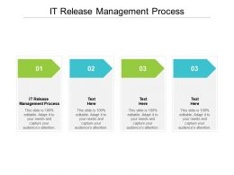 IT Release Management Process Ppt Powerpoint Presentation Layouts Mockup Cpb
