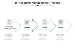IT Resource Management Process Ppt Powerpoint Presentation Show Portrait Cpb