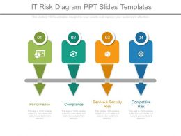 It Risk Diagram Ppt Slides Templates