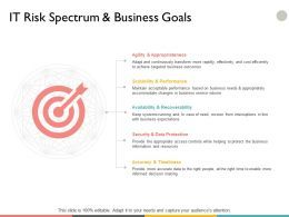 It Risk Spectrum And Business Goals Ppt Powerpoint Presentation File Files