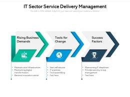 It Sector Service Delivery Management