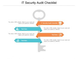 IT Security Audit Checklist Ppt Powerpoint Presentation Slides Skills Cpb