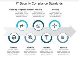 IT Security Compliance Standards Ppt Powerpoint Presentation Slides Ideas Cpb