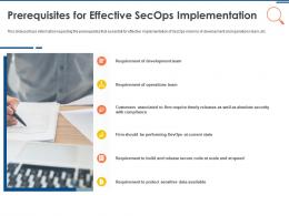 IT Security Operations Prerequisites For Effective Secops Implementation Ppt Information
