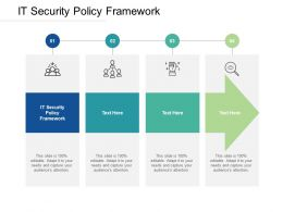 It Security Policy Framework Ppt Powerpoint Presentation Icon Introduction Cpb