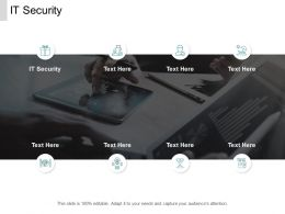 IT Security Ppt Powerpoint Presentation Ideas Display Cpb