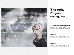 IT Security Program Management Ppt Powerpoint Presentation Outline Rules Cpb