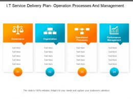 It Service Delivery Plan Operation Processes And Management
