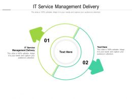 IT Service Management Delivery Ppt Powerpoint Presentation Styles Graphics Cpb