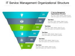 IT Service Management Organizational Structure Ppt Powerpoint Presentation Model Clipart Cpb