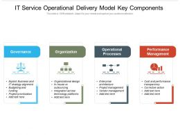 IT Service Operational Delivery Model Key Components