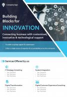 IT Services Consulting Company Two Page Brochure Template