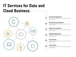IT Services For Data And Cloud Business