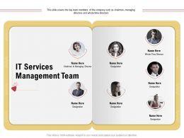 It Services Management Team Chairman Designation Ppt Powerpoint Presentation Gallery