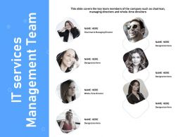 It Services Management Team Chairman Managing Ppt Powerpoint Presentation Slides