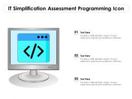 IT Simplification Assessment Programming Icon